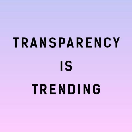 La transparencia está de moda