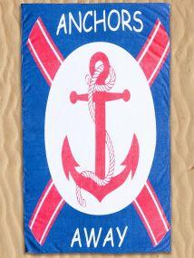ANCHORS BEACH TOWEL