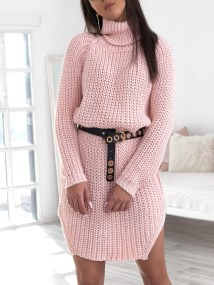 CECILIA PINK KNITTED DRESS