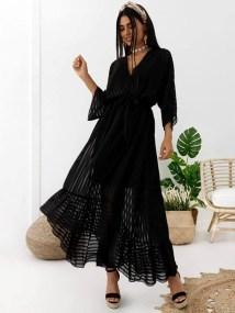 BLACK BREEZE MAXI DRESS