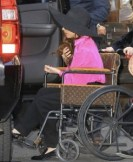 Lady Gaga on a LV Wheelchair
