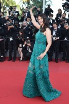 "Indian actress Aishwarya Rai waves as she arrives for the screening of the film ""Asphalte"" (Macadam Stories) at the 68th Cannes Film Festival in Cannes, southeastern France, on May 17, 2015.   AFP PHOTO / BERTRAND LANGLOIS        (Photo credit should read BERTRAND LANGLOIS/AFP/Getty Images)"