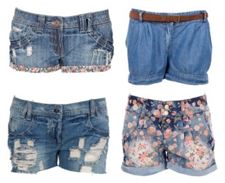 shorts in jeans a vita alta estate