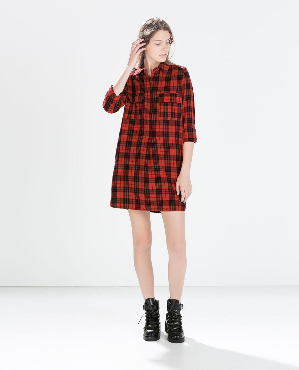 best service 45a0f 9c56b 05fc45ff8840 camicia a quadri rossa e nera 4 modi glam per ...