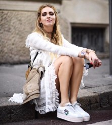 chiara ferragni sneakers bianche alte chiara ferragni collection