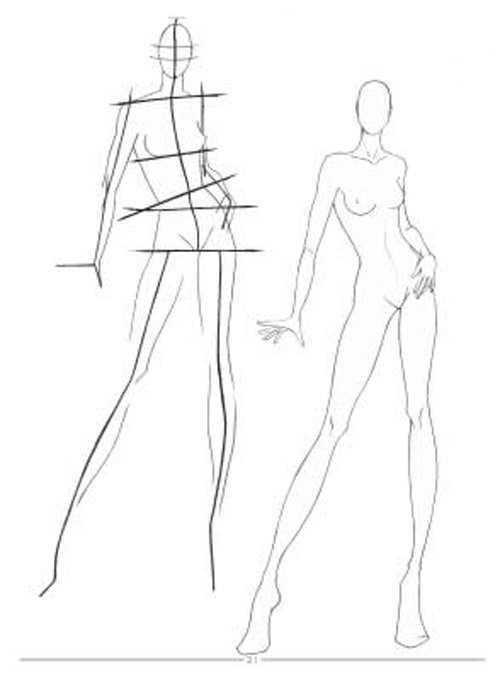 Fashion Design Drawings Sketches Sketch Coloring Page