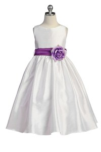Flower Girl Dresses In Purple And White