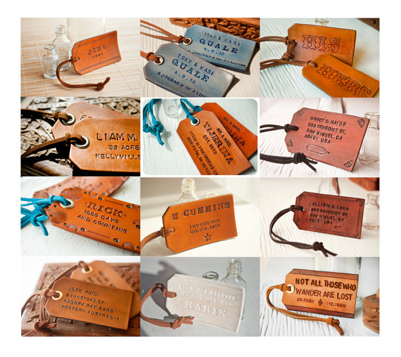 Handmade Leather Luggage Tags by Mesa Dreams