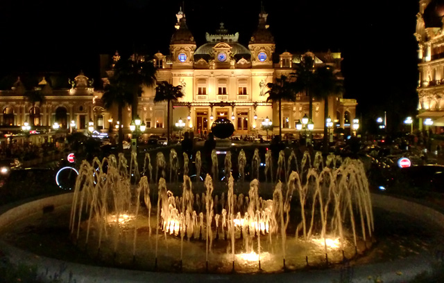 Monte Carlo Casino at night