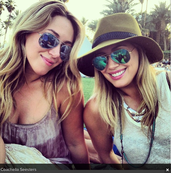 Haylie Duff at Coachella 2013 on Instagram