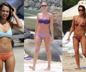Jessica Alba St Barts Bikini Body
