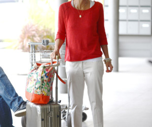 Jessica Alba Airport Style St Barts