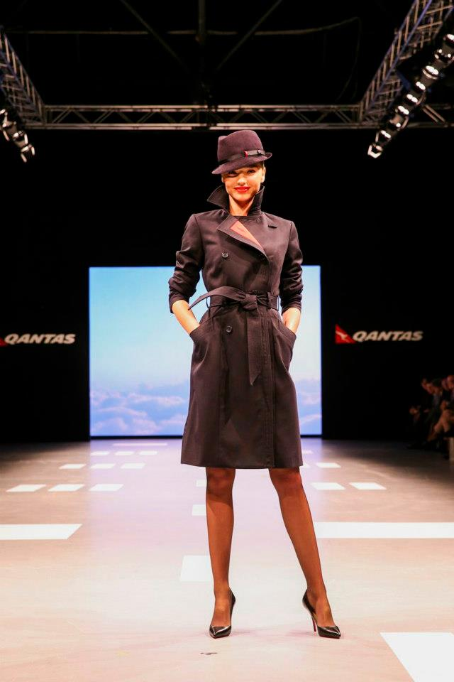 Miranda Kerr Qantas Uniform- Coat