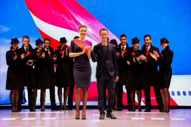 Miranda Kerr Qantas Uniforms