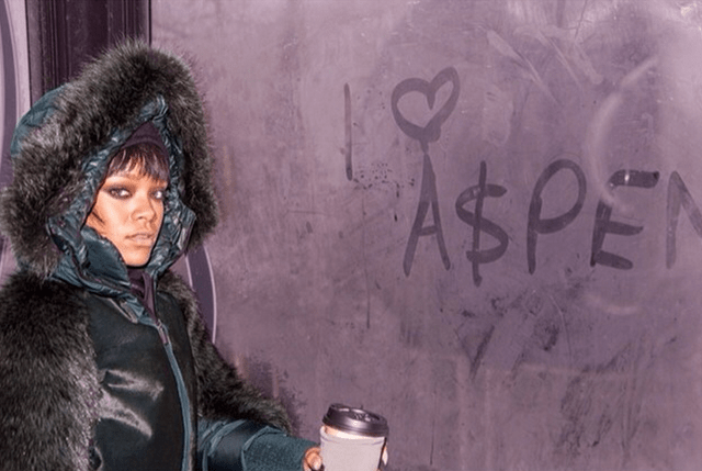 Rihanna on Vacation in Aspen