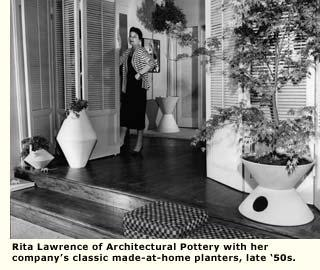 rita lawrence architectural pottery