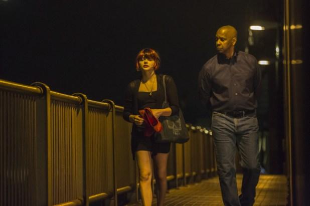 Teri (Chloë Grace Moretz) und Robert McCall (Denzel Washington), Sony Pictures