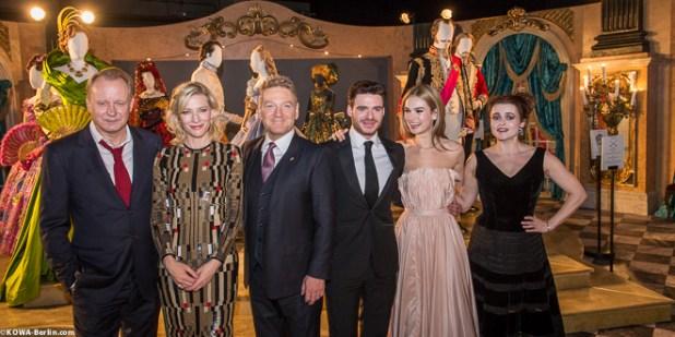 cinderella Stellan Skarsgård, Cate Blanchett, Kenneth Branagh, Richard Madden, Lily James, Richard Madden, Helena Bonham Carter