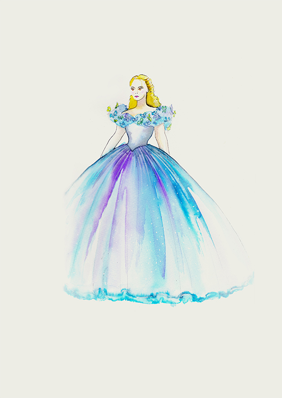 Cinderellas Ballkleid war wohl mit Abstand das Aufwendigste...