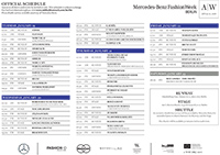 Schauenplan Mercedes-Benz Fashion Week AW 2016 2017