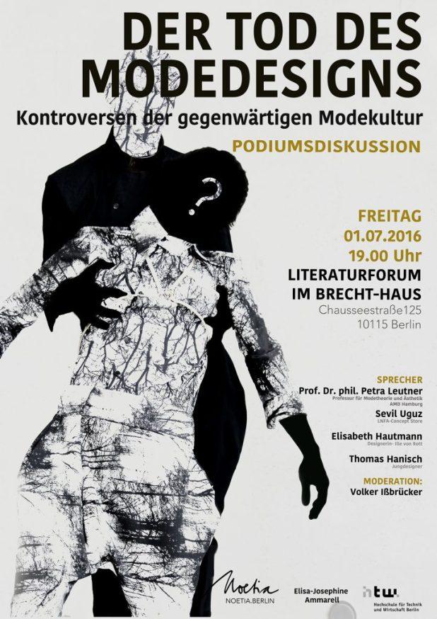 Noetia.Berlin / Elisa-Jospehine Ammarell Podiumsdiskussion: Der Tod des Modedesigns- Kontroversen der gegenwärtigen Modekultur, Fashionweek Berlin Spring Summer 2017