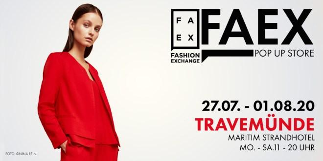 FAEX Pop Up Store kommt nach Travemünde und Usedom – 2020