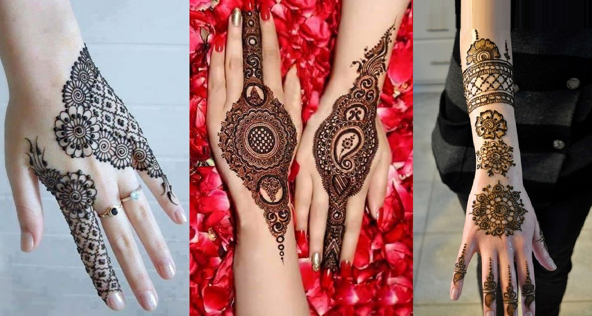 Latest Simple Mehndi Designs For Back Hands 2017 Images