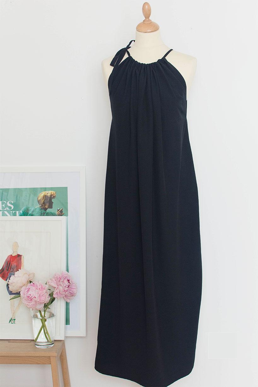 vestido maxi Fashiontamtam-black halter-vestido longo-maternidade-818-11