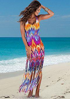 fringed maxi dress