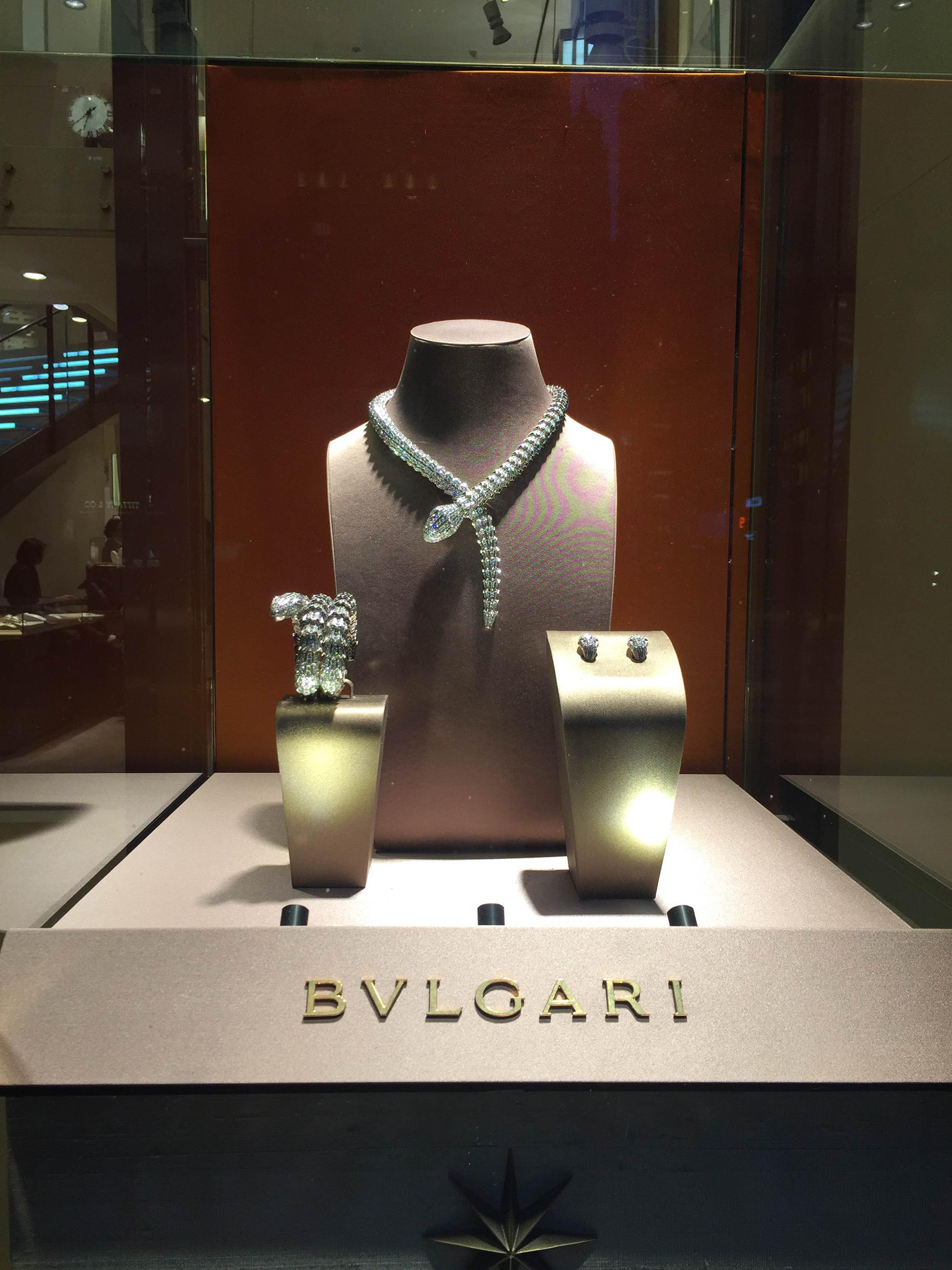 Bvlgaris Window Displays New York February 16