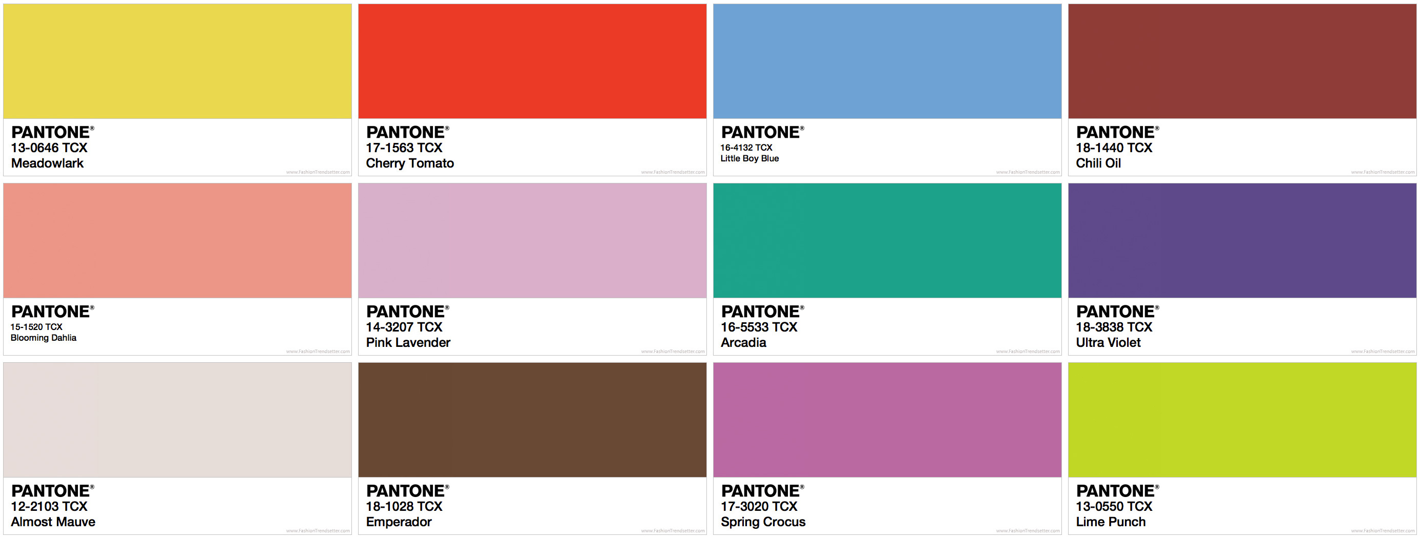 Pantone Fashion Color Trend Report Spring 2018 ‹ Fashion Trendsetter