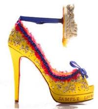 Zapato, tacón, expositión