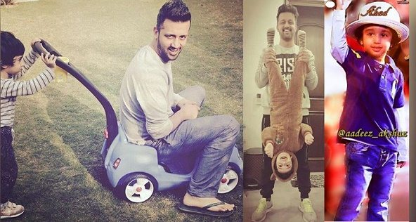 Latest Clicks of Atif Aslam Enjoying with his Cute Son Abdul Ahad on his Birthday  Pakistani