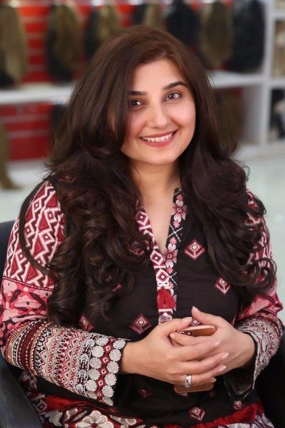 Javeria Saud at Kashees Beauty Salon for HairStyling  Pakistani Drama Celebrities