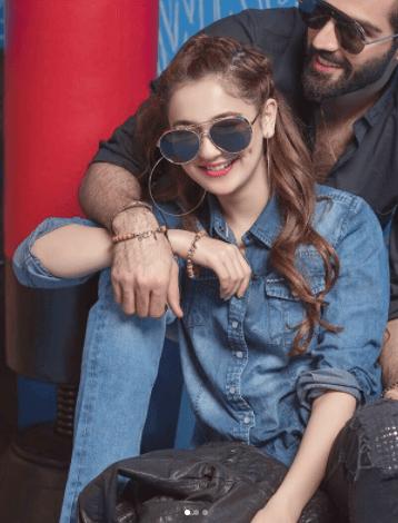 Hania Amir  Husnain Lehri Shoot for Pepe Jeans Pakistan