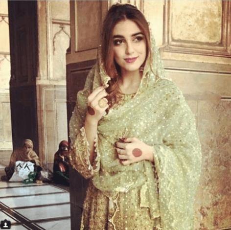 Beautiful Maya Ali at her Cousin Nikah in Badshahi Mosque
