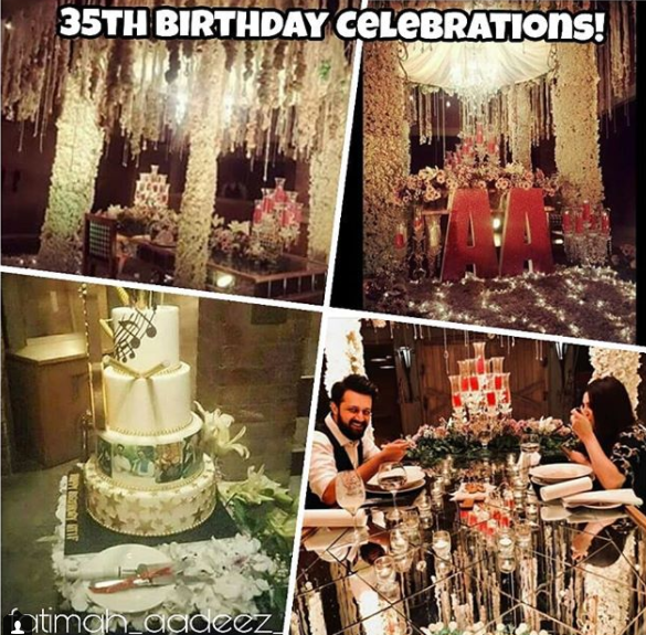 Atif Aslams Wife Sara Threw A Surprise Birthday Party For Atif Aslam In Lahore Pakistani