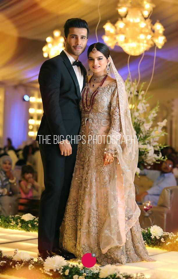 Official Pictures of Feroze Khan and Aliza Feroze Walima