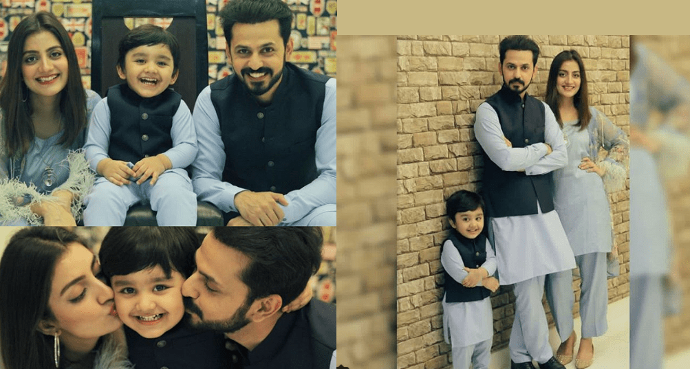 Bilal Qureshi With His Wife Uroosa And Son Pakistani Drama Celebrities