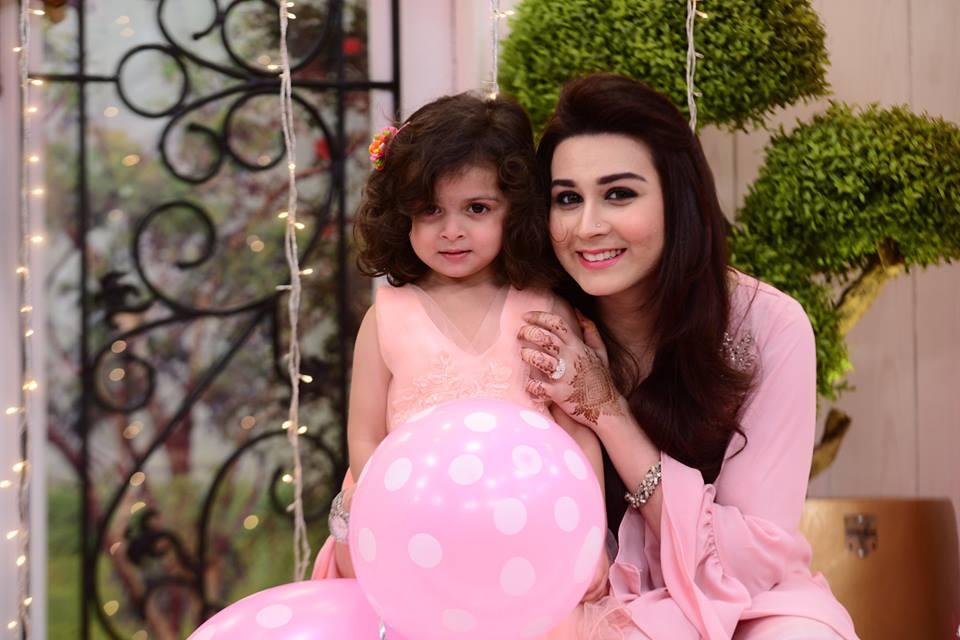 Sadia Imam Daughter Meerab Birthday in Nida Yasir Morning