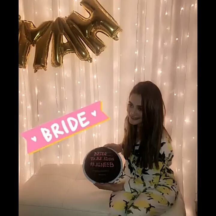 Beautiful Clicks Of Bride To Be Aiman Khan Bridal Shower Pakistani Drama Celebrities