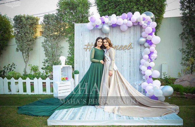 Beautiful Bride to be Aiman Khans Bridal Shower Happening