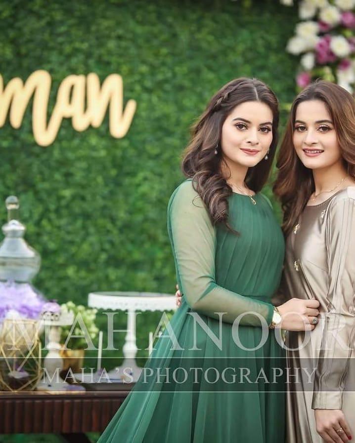 Celebrities at the Bridal Shower of Aiman Khan  Pakistani