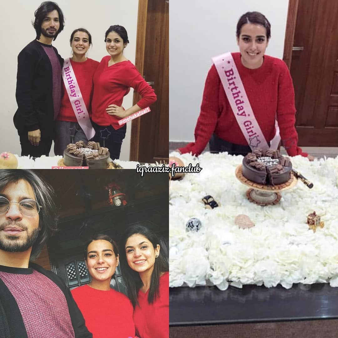 Iqra Aziz Celebrating her Birthday with her Family