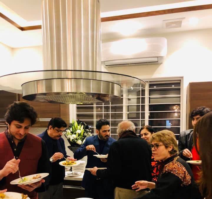 Actor Ahsan Khan Invites Showbiz Celebrities at Dinner in His Home