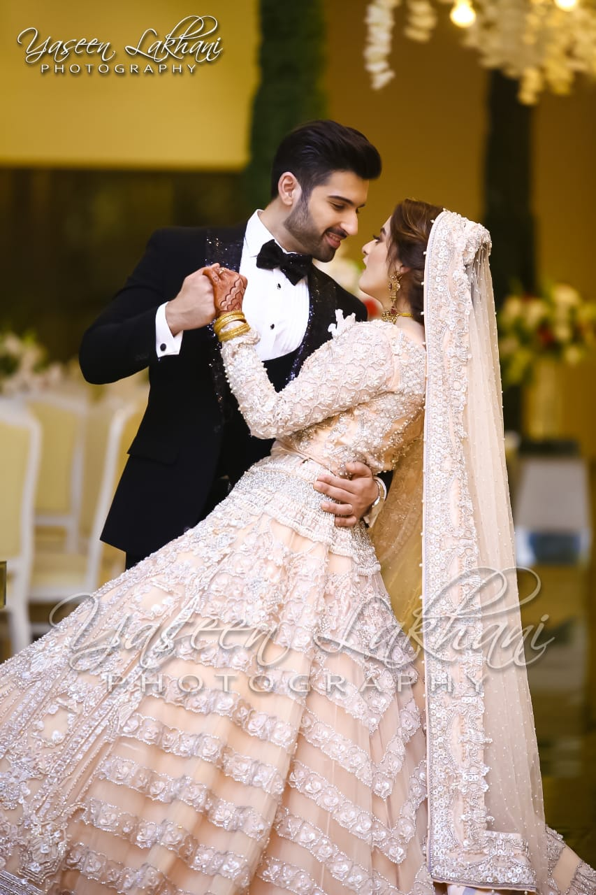Beautiful Pictures Of Aiman Khan Wedding Reception By Yaseen Lakhani Photography Pakistani