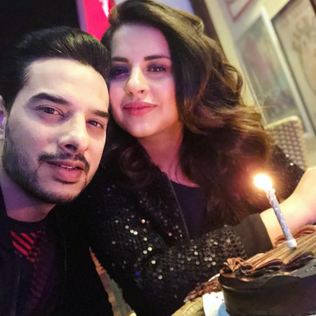 Birthday Celebration by Fatima Effendi with Husband and Kids