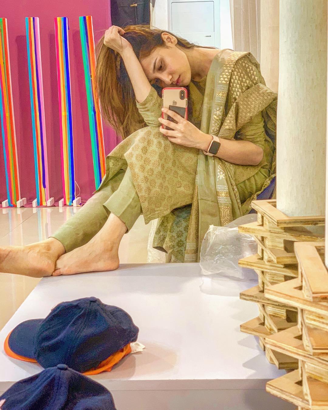 Latest Beautiful Clicks of Hina Altaf with Iqra Aziz