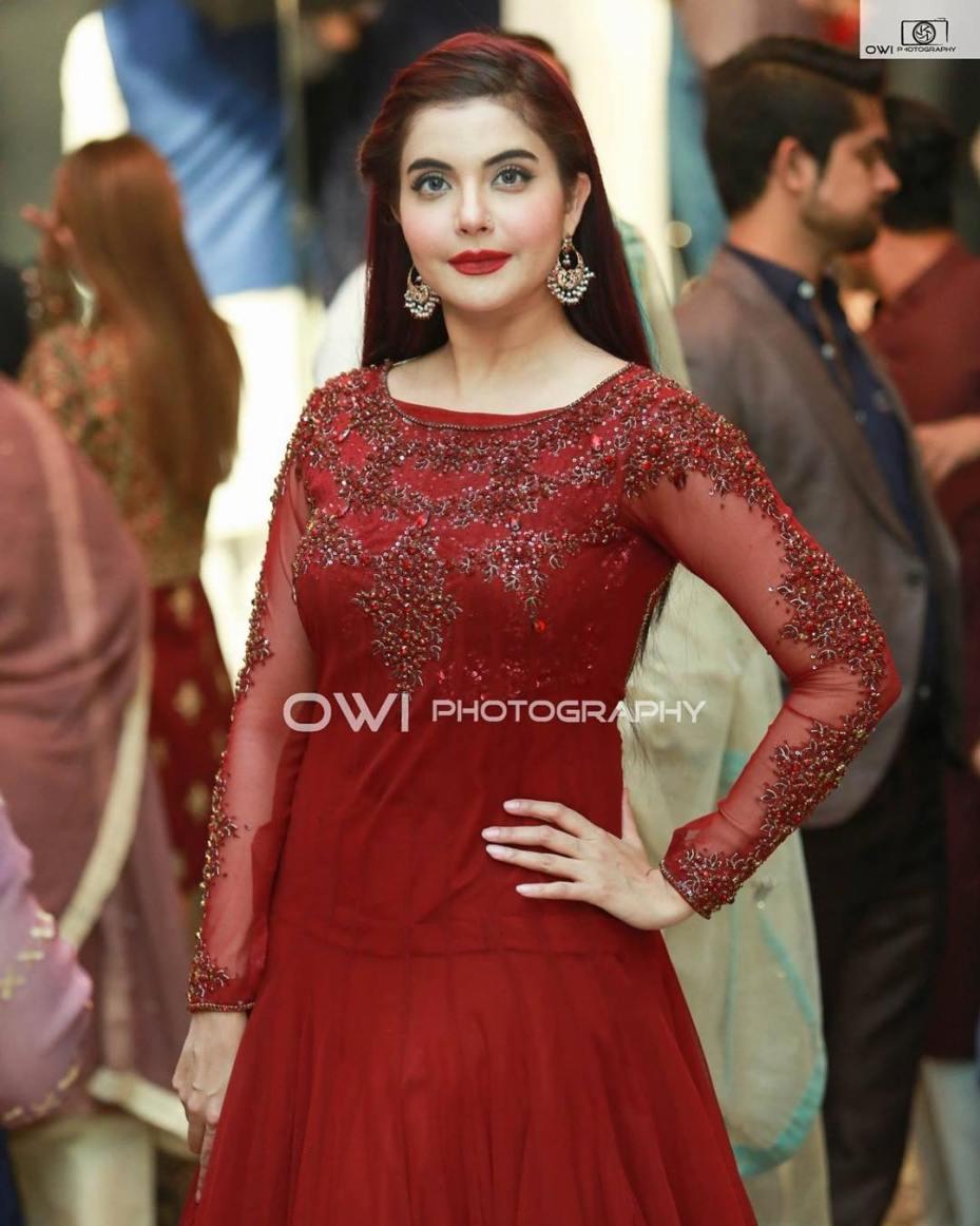 Gorgeous Nida Yasir at Aiman Muneeb Wedding