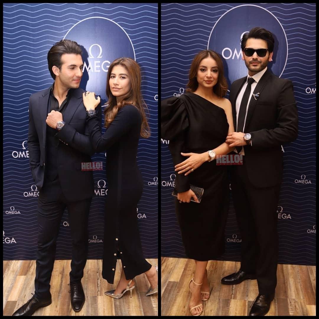 Karachi - Awesome Stylish Couples Sarwat Gillani & Fahad Mirza and Syra & Shahroze at an Event